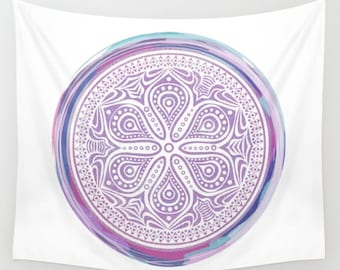 Purple Mandala Tapestry Wall Hanging Meditation Yoga Grunge Hippie