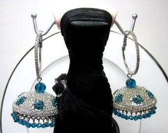 Earrings with Rhinestones