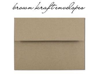 10 Brown Kraft Envelopes - Order Add On
