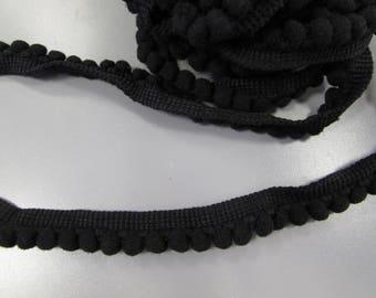 Black Pom Pom Trim Braid
