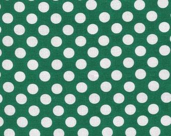 Dark Green Polka Dot -Ta Dot Fabric by Michael Miller