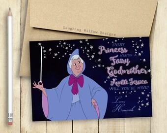 Godmother Card Fairy Godmother Card Will You Be My Godmother Card PRINTABLE Every Princess Needs a Fairy Godmother Baptism