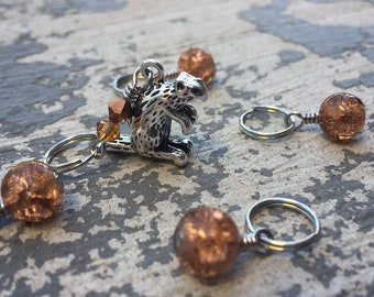 Wynona's Big Brown Beaver: Set of 5 Primus-Inspired Stitch Markers for Knitters & Crocheters