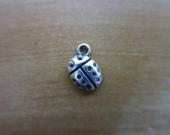 Silver Ladybug charm