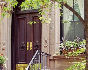 New York Houses Print, NYC Photography, New York Wall Art, Central New York Photo Print, Colorful New York Art