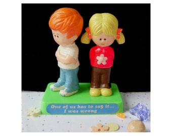 BERRIES Figurine * I Was Wrong * 1971 * Boy and Girl Apologizing