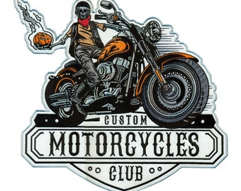 Motorcycle Club Motorcycle/Biker Patch (11 x 12 inch)