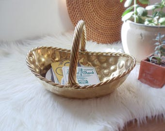 Vintage Basket Brass