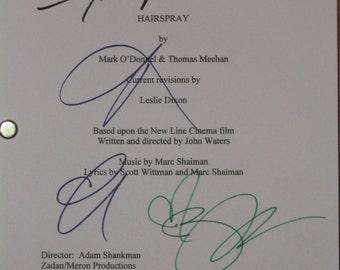 Hairspray Signed Movie Film Screenplay Script Autographs Zac Efron Amanda Bynes Brittany Snow Nikki Blonsky signatures reprint