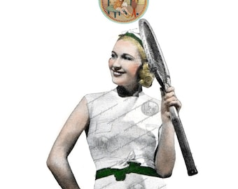 Vintage Tennis Outfit Dress, Bandeau, Belt and Socks Circa 1938 Instant Download PDF Knitting Pattern from PrettyPatternsPlease