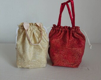 Orange carrier Chinese New Year lunch tote bag