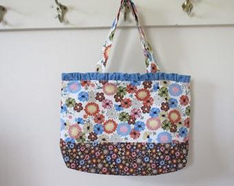Ruffled Bag, Scripture bag, church bag