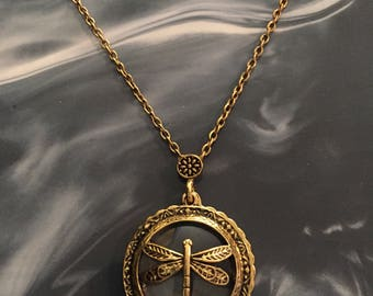 Dragonfly Magnifying necklace