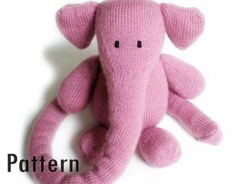 PDF Pattern - Hugo the Hugglephant - Knitting