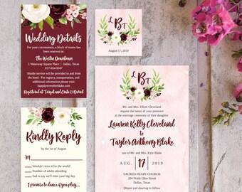 Simple Wedding Invite Templates, Wedding Invitation Suites Package, Wedding Invitation Downloadable Templates, Wedding Invitations Kit Cheap