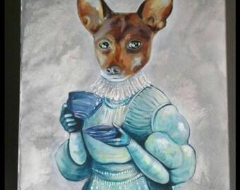 Custom Vintage Pet Portraiture