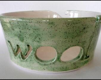 Ceramic Yarn Bowl, Knitting Bowl, Wool Bowl, Crochet Bowl, Pottery Yarn Bowl, Yarn Bowl, Needlecrafts, Knitters Gift, Gift for Her