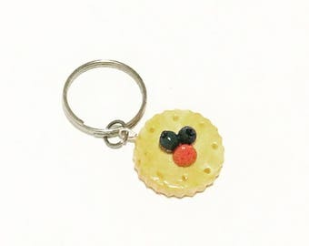 Fruit Tart Cookie Key Charm