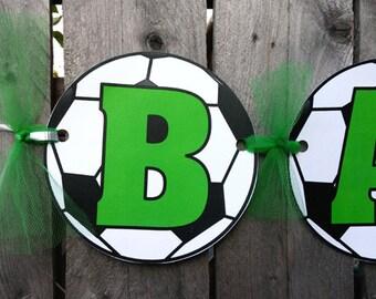 Soccer Baby Shower Banner, Soccer Birthday Banner, Soccer Banner, Soccer Birthday Banner, Soccer Party Banner, Soccer Banner