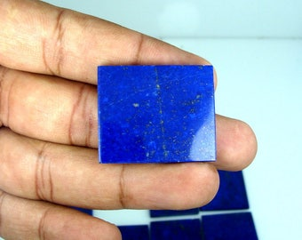 78.00 Grams Natural Calcite Free Stunning Polish Lapis Lazuli Small Tiles 8 Pieces From Afghanistan.