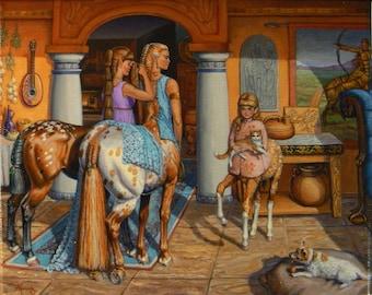 Centaurs 16x20 canvas giclee limited ed. print