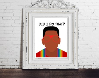 Family Matters - Steve Urkel, Did I Do That? Funny Tv Sitcom Art, Television, Throwback Gift, Funny Print Quote, Winslow, Gag Gift