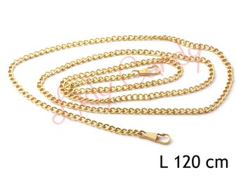 Chain shoulder strap 120 cm gold color snap clutch #330164