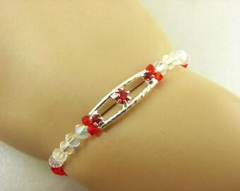 Bracelet-Red Crystals
