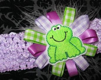 Froggy Crochet Headband
