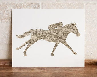 Kentucky Racehorse Print