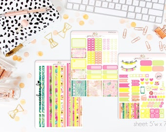 Paradise HORIZONTAL Weekly Kit // 130+ Matte Planner Stickers // Perfect for your Erin Condren Life Planner // WKH0730