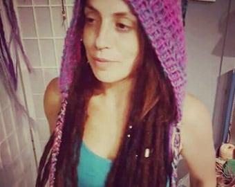 Long Crochet Pixie Hood