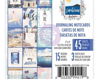 "Prima Santorini collection 3"" x 4"" journaling note card pad Frank Garcia scrapbooking journaling TN planner planner accessories"