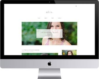 Alis - Minimal Blogger Template Responsive Design Custom Blogger Design Responsive Blogger template Blogger theme premade