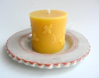 Honeybee Pillar Candle