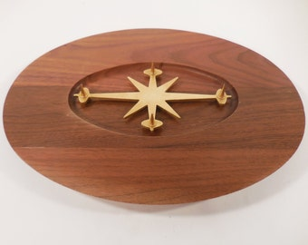 Mid Century Atomic Carving Board Trivet