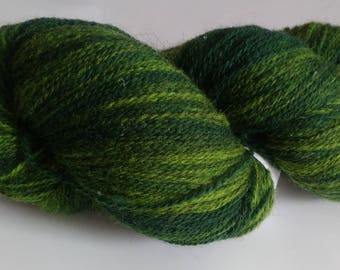 256g DARK-GREEN Kauni Gradient Yarn Hand Dyed Wool Machine Knitting Yarn Merino Rustic Artistic Wool Yarn Effektgarn Crochet Wool Speckled