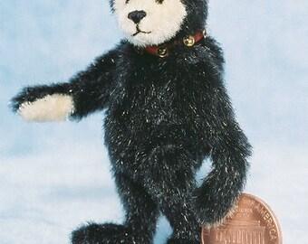 Mr. Black Bear - Miniature Teddy Bear Kit - Pattern - by Emily Farmer