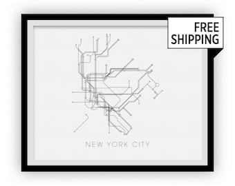 New York Subway Map Print - New York Metro Map Poster