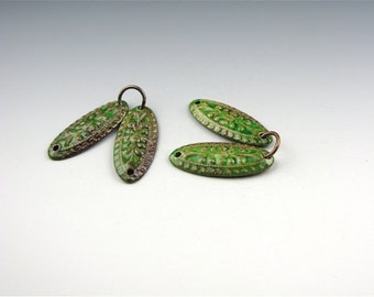 Enameled Edwardian Oval / Emerald Enamel / Made to order