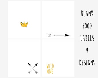 INSTANT DOWNLOAD, Printable Wild One Food Labels, Wild One Food Tents, Wild One Birthday Party, Where The Wild Things Are Birthday Party