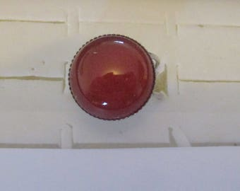 carnelian silver plated ring