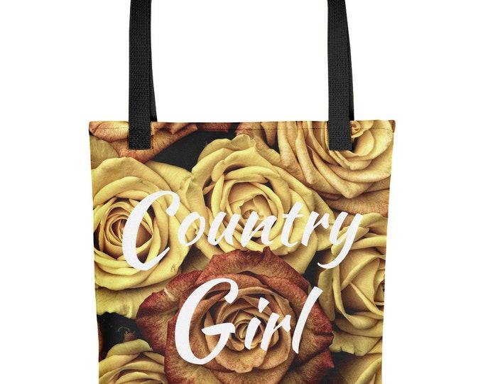 Tote Bag Rustic Roses Country Girl