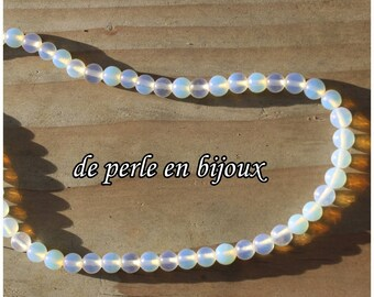 10pcs choices: 4mm / 6mm / 8mm / 10mm or 12mm Pearl round opaline transparent Opal bead Moon bead Opal Pearl Moon stone