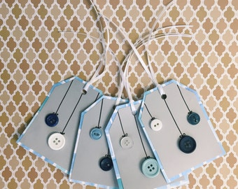 Blue Ornament Tags