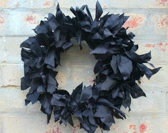 Couronne de soie dupion noir
