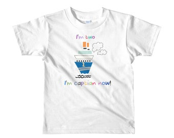 Kids Fun I'm two I'm captain now Graphic T Shirt By SandStorm