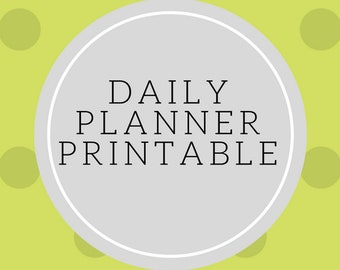 Daily Planner, Daily Planner Printable, Daily Planner inserts, Daily Planner PDF, Daily Schedule, Daily Agenda, Day Planner, Day Organizer