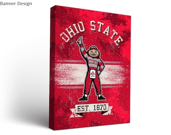 Ohio State University OSU Buckeyes Canvas Wall Art