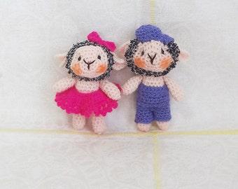 Soft toy sheep handmade
